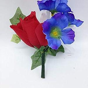 Niche DIY Crypt Silk Flower Rose Delphinium Ivy