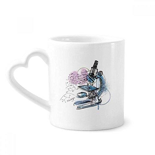 Chemistry Kowledge Microscope Mug Coffee Ceramic Drinkware Glass Heart Cup