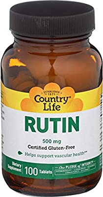 Country Life, Gluten Free, Rutin, 500 mg, 100 Tablets from Country Life