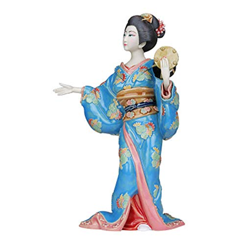 VBNHGF Busts Sculptures Ornaments Christmas Decorative Sculpture Collectibles Japanese Geisha Doll Glazed Ceramic Statue Room Decoration