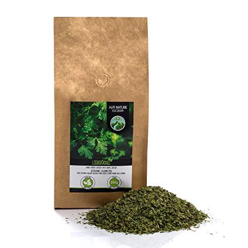 Levístico (250g), Lovage, Apio de Monte, Hierba Maggi, cortada, suavemente secada, 100% pura y natural para la preparación de mezclas de especias