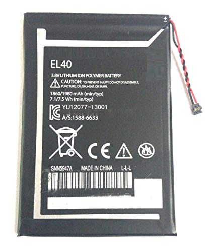 diBri Full Capacity Proper 1860 mAh Battery for Motorola Moto E 1ST GEN XT1021 XT1025 EL40