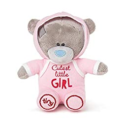 Official Me to You tiny tatty teddy pink baby bear Tiny tatty teddy bear measures approx 10cm Baby safe - made from super soft materials that tiny hands love and handmade for premium quality Adorable pink bear with 'cutest little girl' Caption The pe...