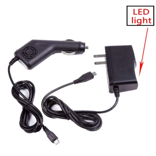 Car Charger + AC Power Adapter Cord for Sharper Image DX-2 DX-3 DX-4 Video Drone