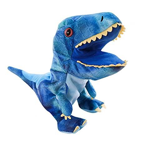 Liadance del Dinosaurio de Juguete de Felpa Marionetas de Mano Juguetes Animal de la Historieta Marionetas de Mano con la Boca de Trabajo de rol Juguete para niños