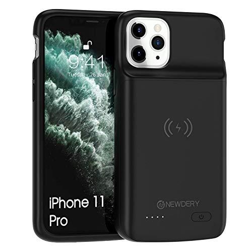 NEWDERY 4800mAh Akku Hülle für iPhone 11 Pro Tragbare Ladebatterie Zusatzakku Externe Handyhülle Batterie Wiederaufladbare Schutzhülle Power Bank Akku Case für iPhone 11 Pro
