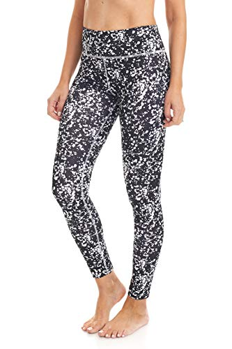 Esteez Leggings for Women - High Waisted Soft Opaque Tummy Control Printed Pants for Running Cycling Yoga 0409 Large