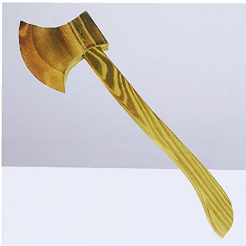 BYFRI 1pc Holz Axt Holz-Spielzeug-Messer Handgemachtes Spielzeug Halloween Leistung Strom-kostüm-zusatz Für Cosplay Halloween