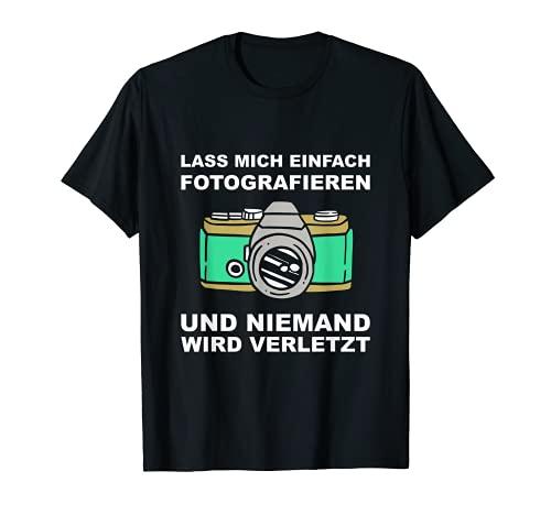 Cámara réflex con texto en alemán Camiseta