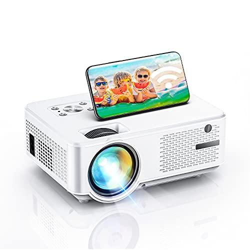mini proiettore wifi, proiettore 7000 Full hd, supporto 1080P, con display 300'' 90.000 ore, compatibile con PS4 / chiavetta TV / smartphone giochi e film Proiettore per esterno / home theater