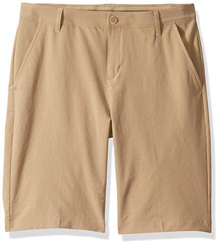 adidas Pantalones Cortos de Golf para niño, Niños, Pantalones Cortos, TB6300S9, Oro Crudo, XL