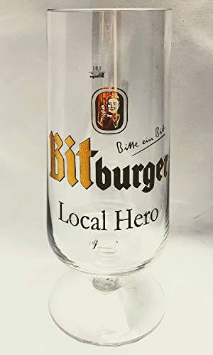 Bitburger 1,0l Glas/Local Hero/Bierglas/XL/Pokal/Kelch/Tulpen/Gold/Gastro/Bar/Deko