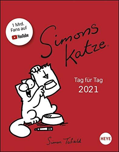Simons Katze Tagesabreißkalender 2021 - Tischkalender mit perforierten Seiten - zum Aufstellen oder Aufhängen - Format 11 x 14 cm