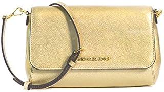 Michael Kors Women's Jet Set Item Convertible Pochette CrossBody Bag, Leather - Gold