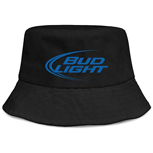 jdadaw Bud-Light- Unisex Bucket Hats Safari Caps Black