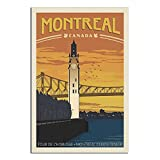 RQSY Vintage-Reise-Poster Kanada Montreal, Leinwandkunst,