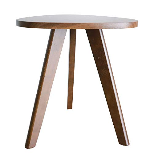 Purzest End Table, Pecan Wood Triangle Side Table...