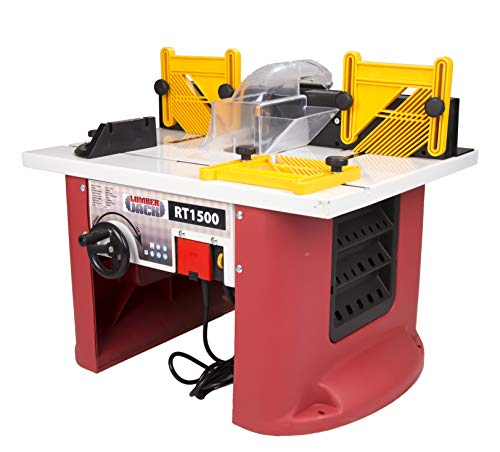 Lumberjack RT1500 1500W Bench Top Router Table with Intergrated Router
