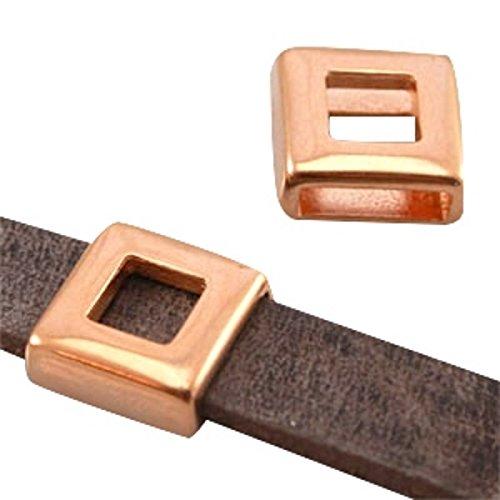 sadingo DQ metal deslizante cuadrado–para 10mm Bandas plano–1pieza–zamak–Color a elegir)