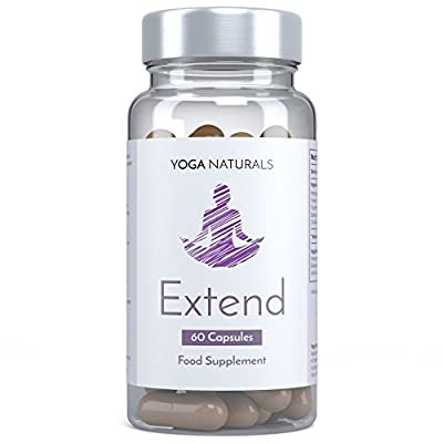 YOGA NATURALS Extend 60 MSM Capsules Vegetarian Friendly Boost Flexibility, Stretch and Recovery 1 Month Supply by YOGANATURALS
