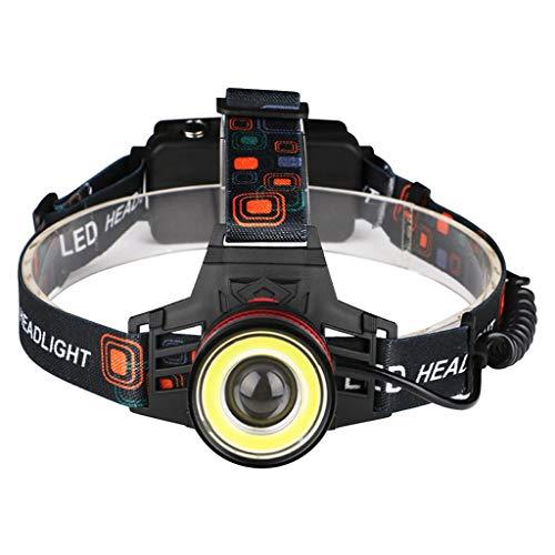 ZLLAN Projecteur LED, Lampe Frontale Rechargeable par USB Rechargeable Super Bright, 4 Modes, imperméable Ajustable pour Courir, Marcher, Camper, Lire, Faire du vélo, pêche