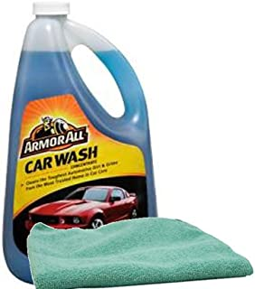 Armor All Car Wash Concentrate 64oz, Bundled with a Microfiber Cloth (2 Items)