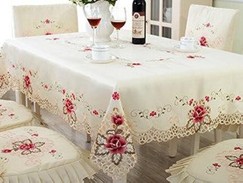 bajo precio azulLSS Europa Style ordenador mesa de comedor paño bordado bordado bordado Mantel Rectángulo cubre DECORACIóN Decoración de boda 60x60cm-140x220cmTablecloth130x180cm.  Esperando por ti