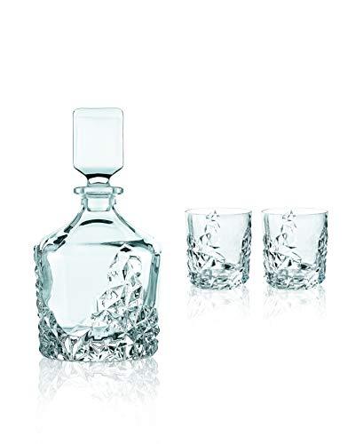 Spiegelau & Nachtmann 3-teiliges Whiskyset, 101984, 750/365 ml, Sculpture