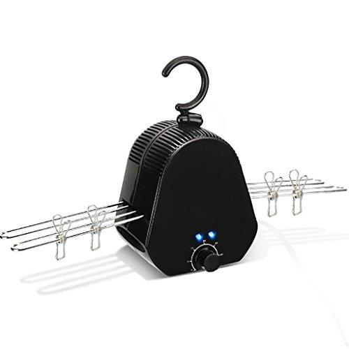 Air dryer Trockner Kleiderbügel Kleiner Mini-Trockner Faltbarer Haushalts-Trockner Schnell trocknender Reisender Reisender Schlafsaal (Farbe : Schwarz)