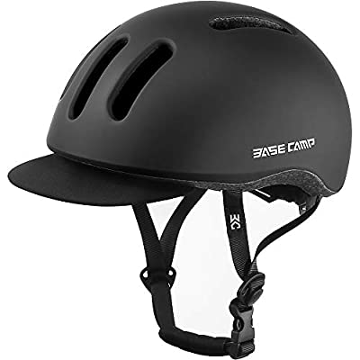 BASE CAMP Adult Bike Helmet with Removable Visor for Urban Commuter Adjustable M Size