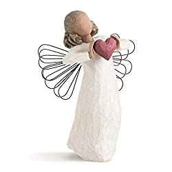 Sentiment: You are loved written on enclosure card 5.5 Inch hand-painted resin figure with wire wings; ready to display on a shelf, table or mantel; to clean, dust with soft brush or cloth An expression of love and caring; a wedding, anniversary or V...