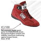 OMP OMPIC/10046 Gel Insole para Endurance Zapatillas, Negro, Talla 46