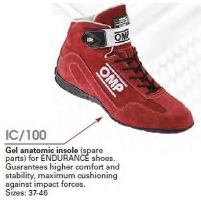 OMP OMPIC/10046 Gel binnenzool voor Endurance schoenen, zwart, maat 46