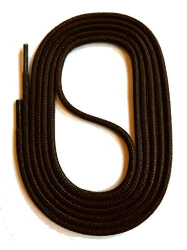 SNORS gewachste Schnürsenkel RUND DUNKELBRAUN 150cm, 3mm, reißfest, Rundsenkel aus Baumwolle Made in Germany für Lederschuhe, Herrenschuhe, Stiefel, Damenschuhe, Stiefeletten