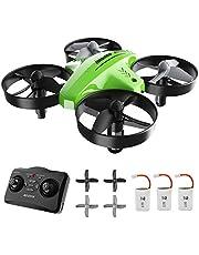 ATOYX Mini Drone, AT-66C RC Drone Niños 3D Flips, Modo sin Cabeza, Estabilización de Altitud, 3 Modos de Velocidad, 4 Canales 6-Ejes, 3 Baterías, Regalo para Niños y Principiantes