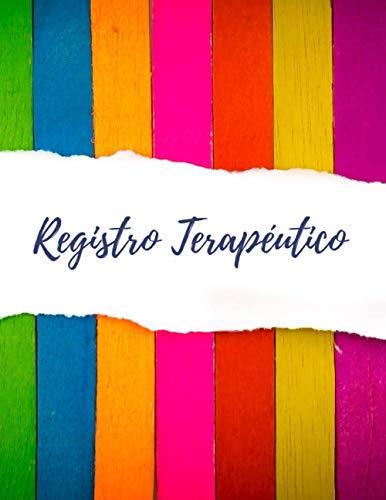 REGISTRO TERAPÉUTICO: DIARIO DE SESIONES | Seguimiento de Terapias | Práctico Cuaderno para Terape