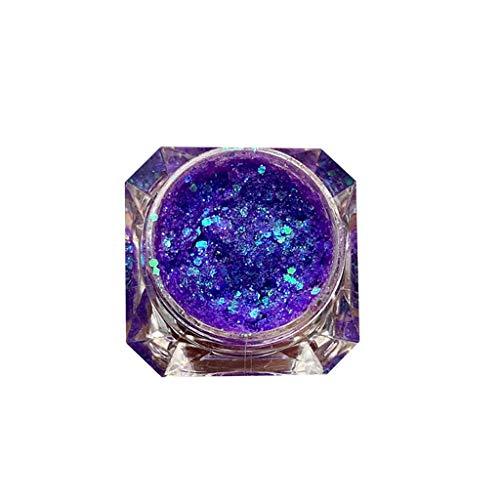 FBGood Brillant Diamant Fard à Paupières Pailleté Poudre - Glitter Fard à Paupières Pigment de Paillettes de Diamants de Maquillage Scintillant Ombre à Paupières Brillante Imperméable de Longue Durée