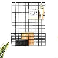 グリッド写真壁、写真吊りディスプレイ、多機能写真吊りディスプレイ壁、グリッド壁掛け画像、部屋およびオフィス用グリッドパネル,Black