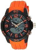 U.S. Polo Assn. Sport Men's US9476 Analog-Digital Watch With Orange Silicone Band