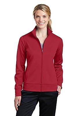 Sport-Tek Womens Sport-Wick Fleece Full-Zip Jacket (LST241) -DEEP RED -M