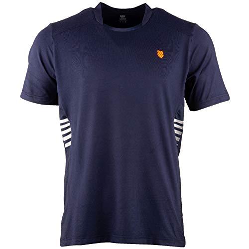 K-Swiss KS TAC Hypercourt Crew Camiseta de Tenis, Hombre, Marino, S