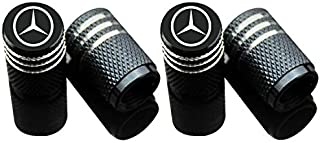 Car Tire Air Valve Caps- Auto Wheel Tyre Dust Stems Cover with Logo Emblem Waterproof Dust-Proof Universal fit for Cars, S...