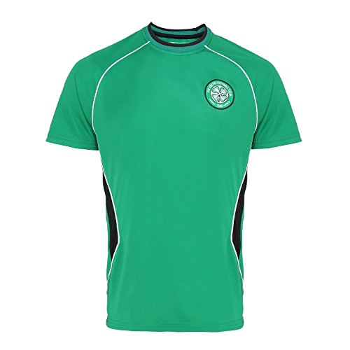 Official Soccer Merchandise Celtic FC Adults Short Sleeve T-Shirt (M) (Green)