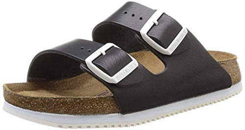 Birkenstock Arizona Leder Softfootbed, Mules mixte adulte, Noir, 46