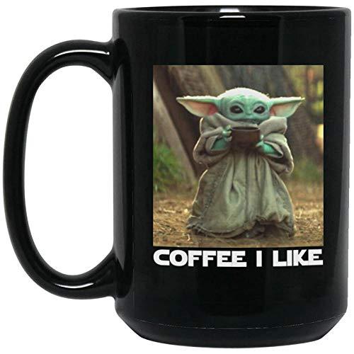 Star Wars Mandalorian Yoda Yoda Baby Keramik Kaffee Mark Tasse Schwarzwasser Tasse 15oz-12_401-500ml