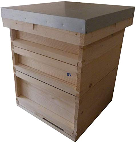 AGS National bee hive with brood box and two supers. Beekeeping beehive kit...