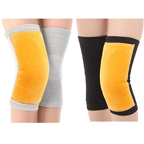 MadHolly 2 Pack Fleece Lined Cashmere Knee Warmers