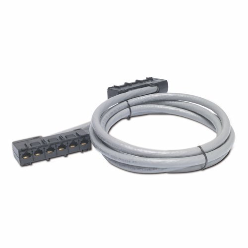 Apc Data Distribution Cable, CAT5E UTP Cmr Gray, 6XRJ-45 Jack to 6XRJ-45 Jack, 1