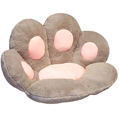 Janly Clearance Sale Cat's Paw Shape Plush Sofa Office Cushion Elastic Decoration , Pillow Case forHome & Garden , Easter St Patrick's Day Deal (Gray)