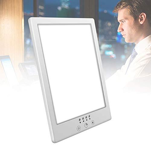 SAD 10000 Lux Daglichtlamp, draagbaar, uv-vrije led-lichtbox, effectieve Sunlight Energy lamp met instelbare helderheid, 2 kleurtemperaturen en timer voor winterdepressie Ouoy
